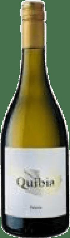 14,95 € Envío gratis | Vino blanco Quibia Crianza I.G.P. Vi de la Terra de Mallorca Islas Baleares España Callet, Prensal Blanco Botella 75 cl