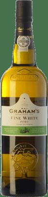 8,95 € Envío gratis | Vino generoso Graham's Blanco Oporto I.G. Porto Portugal Malvasía, Códega, Rabigato, Viosinho Botella 75 cl