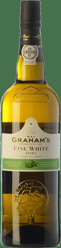 8,95 € Free Shipping | Fortified wine Graham's Blanco Oporto I.G. Porto Portugal Malvasía, Códega, Rabigato, Viosinho Bottle 75 cl
