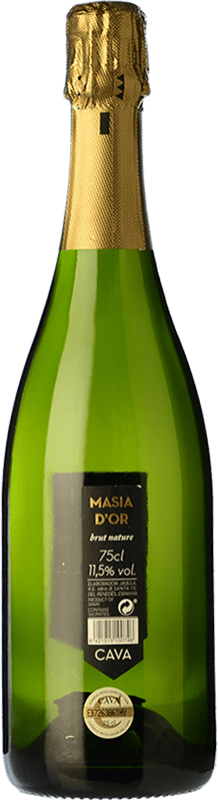 6,95 € Free Shipping | White sparkling Mo Masía d'Or Brut Nature Joven D.O. Cava Catalonia Spain Bottle 75 cl