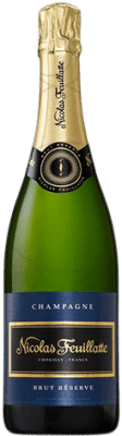 27,95 € Free Shipping | White sparkling Nicolas Feuillatte Brut Gran Reserva A.O.C. Champagne France Pinot Black, Chardonnay, Pinot Meunier Bottle 75 cl