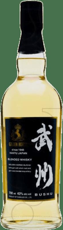 63,95 € 免费送货   威士忌单一麦芽威士忌 Golden Horse Bushu 日本 瓶子 70 cl