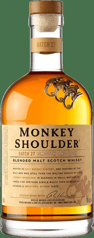 26,95 € 免费送货   威士忌单一麦芽威士忌 Monkey Shoulder 英国 瓶子 70 cl