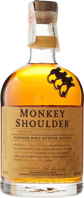 31,95 € 免费送货   威士忌单一麦芽威士忌 Monkey Shoulder 英国 瓶子 Misil 1 L