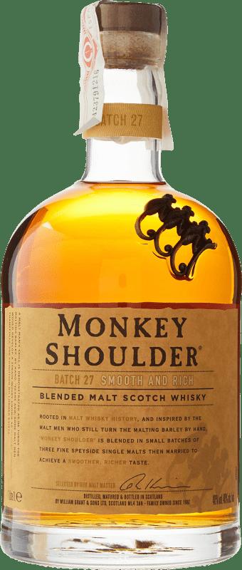 31,95 € Envío gratis | Whisky Single Malt Monkey Shoulder Reino Unido Botella Misil 1 L