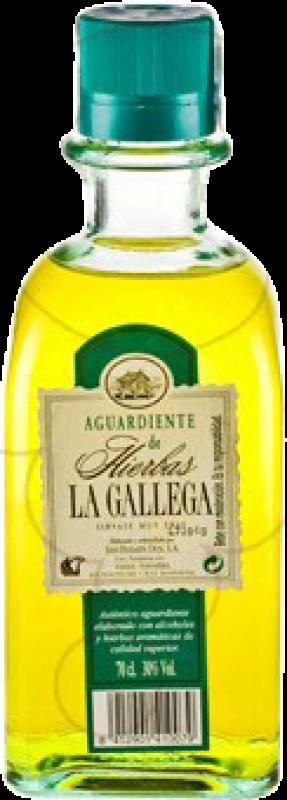 11,95 € Envío gratis | Licor de hierbas La Gallega España Botella 70 cl