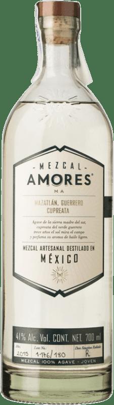 69,95 € 免费送货   梅斯卡尔酒 Amores Cupreata 墨西哥 瓶子 70 cl