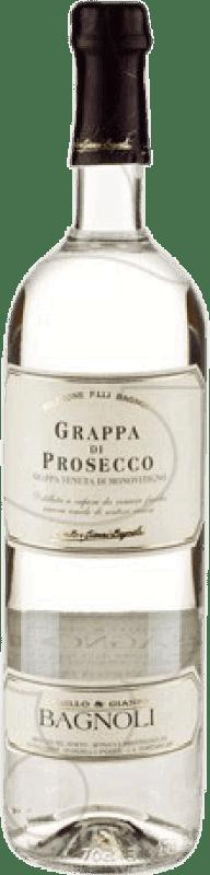 12,95 € Envío gratis | Grappa D.O.C. Prosecco Italia Botella 70 cl