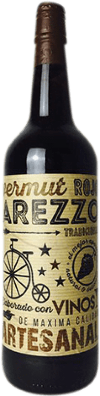 6,95 € Envío gratis | Vermut Arezzo Rojo España Botella Misil 1 L