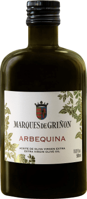 7,95 € Envío gratis | Aceite Marqués de Griñón Arbequina España Arbequina Media Botella 50 cl