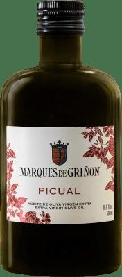 7,95 € Envío gratis | Aceite Marqués de Griñón Picual España Picual Media Botella 50 cl