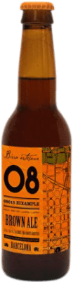 2,95 € | Beer Birra Artesana 08 Eixample Brown Ale Spain Botellín Tercio 33 cl