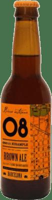 2,95 € Envoi gratuit | Bière Birra Artesana 08 Eixample Brown Ale Espagne Botellín Tercio 33 cl