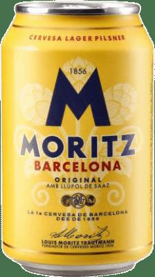 1,95 € 免费送货   啤酒 Cervezas Moritz 西班牙 Lata 33 cl