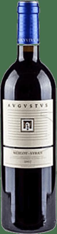 7,95 € Free Shipping | Red wine Augustus Augustus Merlot Syrah D.O. Penedès Catalonia Spain Merlot, Syrah 75 cl