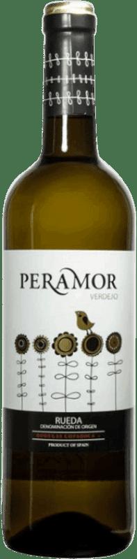 Envío gratis | Vino blanco Copaboca Peramor D.O. Rueda España Verdejo Botella 75 cl
