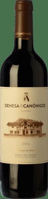 21,95 € Envío gratis | Vino tinto Dehesa de los Canónigos Crianza D.O. Ribera del Duero España Tempranillo, Cabernet Sauvignon Botella 75 cl