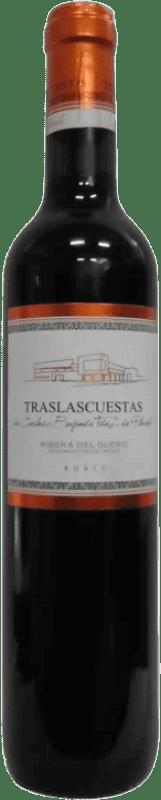 Envio grátis | Vinho tinto Traslascuestas Joven D.O. Ribera del Duero Espanha Tempranillo Meia Garrafa 50 cl