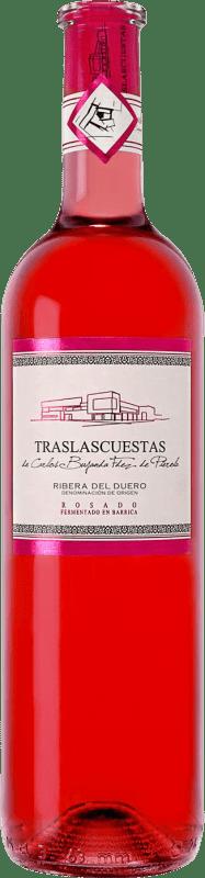 免费送货 | 玫瑰酒 Traslascuestas D.O. Ribera del Duero 西班牙 Tempranillo 瓶子 75 cl