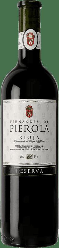 Envío gratis | Vino tinto Piérola Reserva D.O.Ca. Rioja España Tempranillo Botella 75 cl