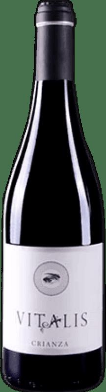 Envío gratis | Vino tinto Vitalis Selección Crianza D.O. León España Prieto Picudo Botella 75 cl