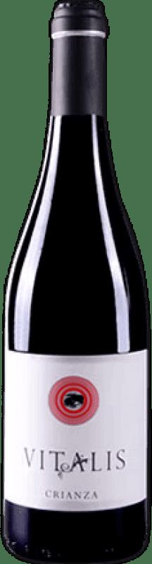 Envío gratis | Vino tinto Vitalis Crianza D.O. León España Prieto Picudo Botella 75 cl