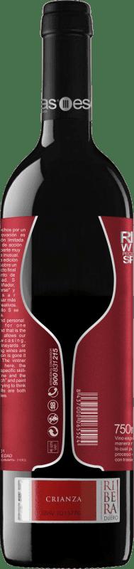 18,95 € Envoi gratuit | Vin rouge Esencias «S8» 8 Meses Crianza D.O. Ribera del Duero Castille et Leon Espagne Tempranillo Bouteille 75 cl
