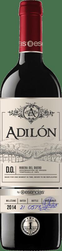 54,95 € | Red wine Esencias Adilón Selección Especial 18 Meses Reserva D.O. Ribera del Duero Castilla y León Spain Tempranillo Bottle 75 cl