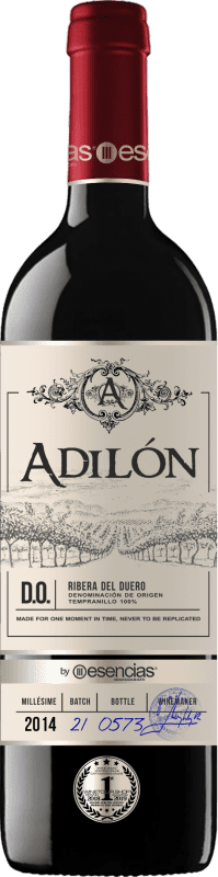 54,95 € Free Shipping | Red wine Esencias Adilón Selección Especial 18 Meses Reserva D.O. Ribera del Duero Castilla y León Spain Tempranillo Bottle 75 cl