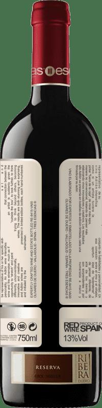 Бесплатная доставка | Красное вино Esencias Adilón Selección Especial 18 Meses Reserva D.O. Ribera del Duero Кастилия-Леон Испания Tempranillo бутылка 75 cl