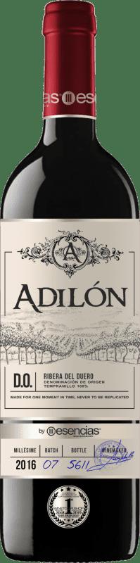 32,95 € Free Shipping | Red wine Esencias Adilón VS Vendimia Seleccionada 12 Meses Crianza D.O. Ribera del Duero Castilla y León Spain Tempranillo Bottle 75 cl