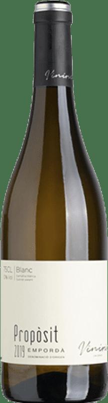 10,95 € Free Shipping | White wine Viníric Propòsit Blanc D.O. Empordà Catalonia Spain Grenache White, Muscat, Macabeo Bottle 75 cl