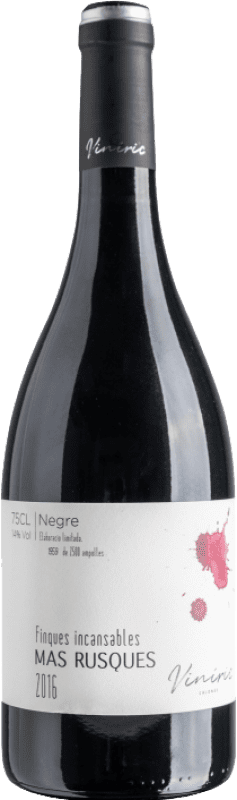 14,95 € | Red wine Viníric Finques Incansables Mas Rusques Negre Crianza D.O. Empordà Catalonia Spain Carignan Bottle 75 cl