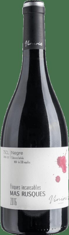 14,95 € Envoi gratuit | Vin rouge Viníric Finques Incansables Mas Rusques Negre Crianza D.O. Empordà Catalogne Espagne Carignan Bouteille 75 cl