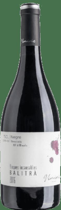 14,95 € Free Shipping | Red wine Viníric Finques Incansables Balitrà Negre Crianza D.O. Empordà Catalonia Spain Grenache Bottle 75 cl