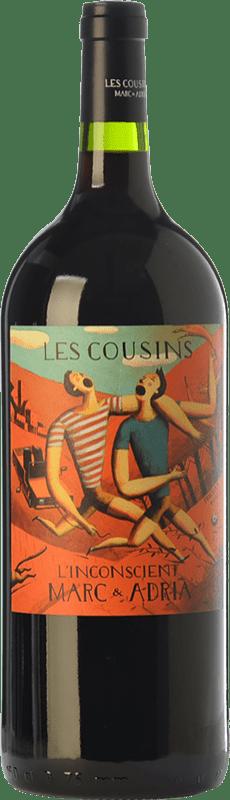 27,95 € Free Shipping | Red wine Les Cousins L'Inconscient Crianza D.O.Ca. Priorat Catalonia Spain Merlot, Syrah, Grenache, Cabernet Sauvignon, Carignan Magnum Bottle 1,5 L