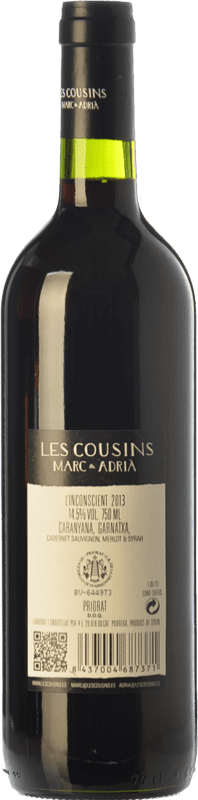 13,95 € Free Shipping | Red wine Les Cousins L'Inconscient Crianza D.O.Ca. Priorat Catalonia Spain Merlot, Syrah, Grenache, Cabernet Sauvignon, Carignan Magnum Bottle 1,5 L