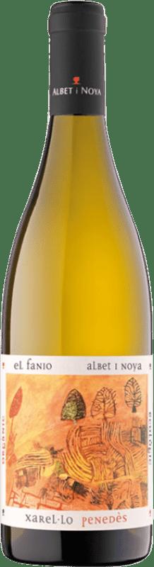 11,95 € Free Shipping | White wine Albet i Noya El Fanio Crianza D.O. Penedès Catalonia Spain Xarel·lo Bottle 75 cl