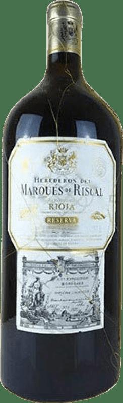199,95 € Free Shipping | Red wine Marqués de Riscal Reserva D.O.Ca. Rioja The Rioja Spain Tempranillo, Graciano, Mazuelo, Carignan Imperial Bottle-Mathusalem 6 L