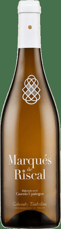 12,95 € Free Shipping | White wine Marqués de Riscal Aldaixa Txakolina Joven D.O. Getariako Txakolina Basque Country Spain Hondarribi Zuri Bottle 75 cl
