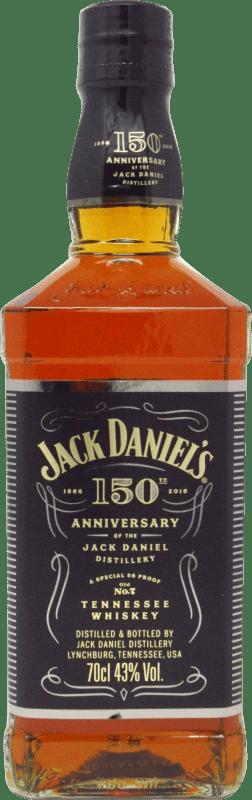 43,95 € Free Shipping | Bourbon Jack Daniel's 150 Aniversario United States Bottle 70 cl