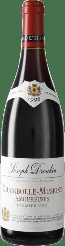 784,95 € 免费送货 | 红酒 Drouhin 1er Cru Amoureuses 1996 A.O.C. Chambolle-Musigny 勃艮第 法国 Pinot Black 瓶子 75 cl
