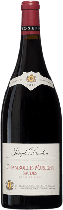 242,95 € Free Shipping | Red wine Drouhin 1er Cru Baudes A.O.C. Chambolle-Musigny Burgundy France Pinot Black Magnum Bottle 1,5 L