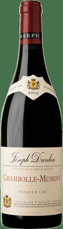 108,95 € 免费送货 | 红酒 Drouhin 1er Cru A.O.C. Chambolle-Musigny 勃艮第 法国 Pinot Black 瓶子 75 cl