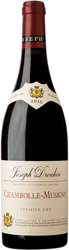108,95 € Free Shipping | Red wine Drouhin 1er Cru A.O.C. Chambolle-Musigny Burgundy France Pinot Black Bottle 75 cl