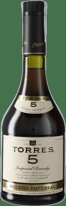 11,95 € Envío gratis | Brandy Torres 5 D.O. Penedès Cataluña España Botella 70 cl