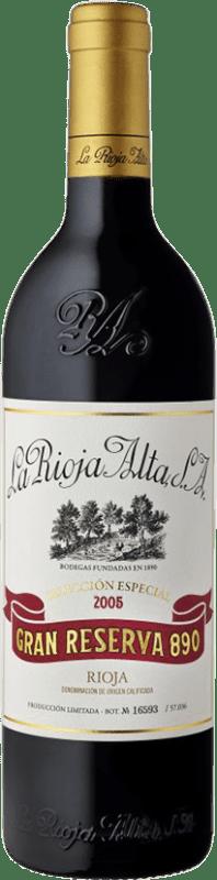 144,95 €   Vino rosso Rioja Alta 890 Selección Especial Gran Reserva 2005 D.O.Ca. Rioja Spagna Tempranillo Bottiglia 75 cl