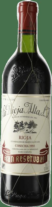 167,95 € 免费送货 | 红酒 Rioja Alta 890 Selección Especial Gran Reserva 1985 D.O.Ca. Rioja 西班牙 Tempranillo 瓶子 75 cl