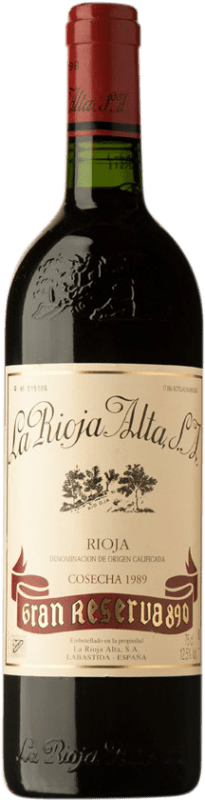 175,95 € | Red wine Rioja Alta 890 Gran Reserva 1989 D.O.Ca. Rioja Spain Tempranillo Bottle 75 cl
