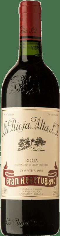 167,95 € 免费送货 | 红酒 Rioja Alta 890 Gran Reserva 1989 D.O.Ca. Rioja 西班牙 Tempranillo 瓶子 75 cl